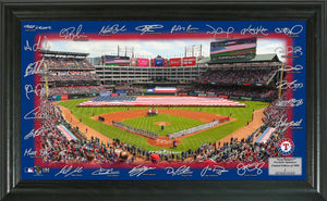Texas Rangers Signature Field Limited Edition Frame