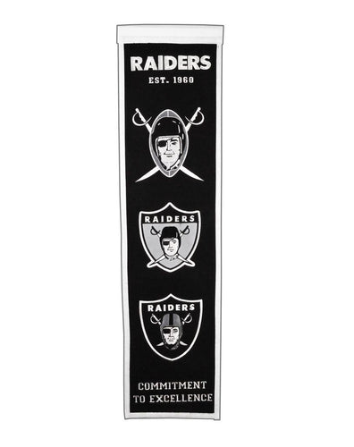 Oakland Raiders Heritage Banner - 8
