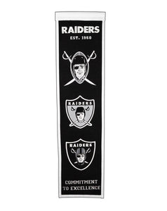 "Oakland Raiders Heritage Banner - 8""x32"""