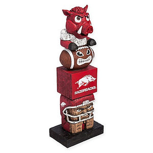 arkansas razorbacks football, arkansas razorbacks tiki totem