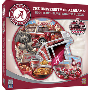 NCAA fan gear Alabama Crimson Tide 500-piece helmet puzzle from Sports Fanz