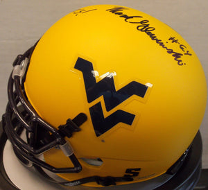 wvu football, mark glowinski autograph