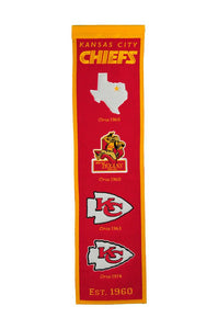 "Kansas City Cheifs Fan Favorite Heritage Banner - 8""x32"""