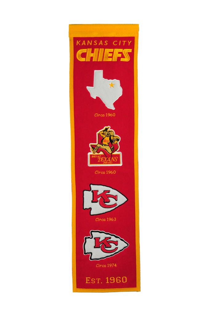 Kansas City Cheifs Fan Favorite Heritage Banner - 8