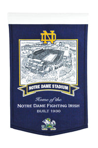 "Notre Dame Fighting Irish Stadium Banner - 15""x24"""
