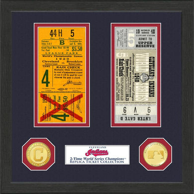 cleveland indians world series champions ticket collection