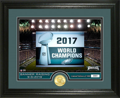Philadelphia Eagles Super Bowl 52 Champions Banner Raising Bronze Coin Photo Mint