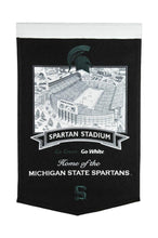 "Michigan State Spartans Stadium Banner - 15""x24"""