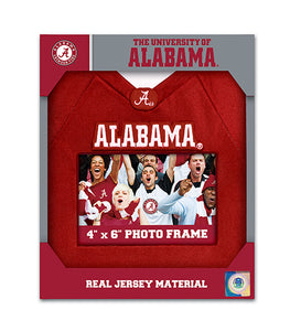 "NCAA fan gear Alabama Crimson Tide football jersey 4""x6"" picture frame from Sports Fanz"