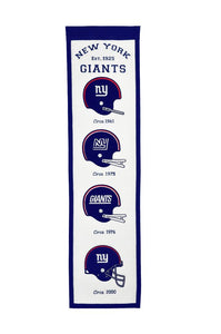 "New York Giants Fan Favorite Heritage Banner - 8""x32"""