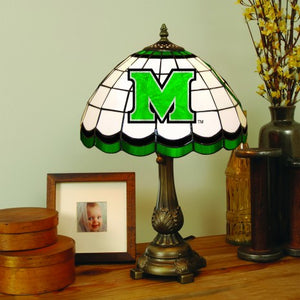 marshall thundering herd tiffany stained glass table lamp