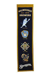 "Milwaukee Brewers Heritage Banner - 8""x32"""