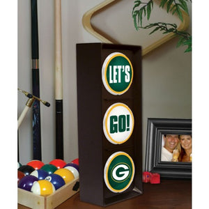 green bay packers let's go light