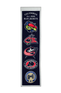 "Columbus Blue Jackets Heritage Banner - 8""x32"""