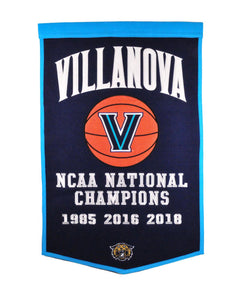 "Villanova Wildcats Dynasty Wool Banner - 24""x36"""