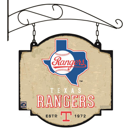 Texas Rangers Vintage Tavern Sign