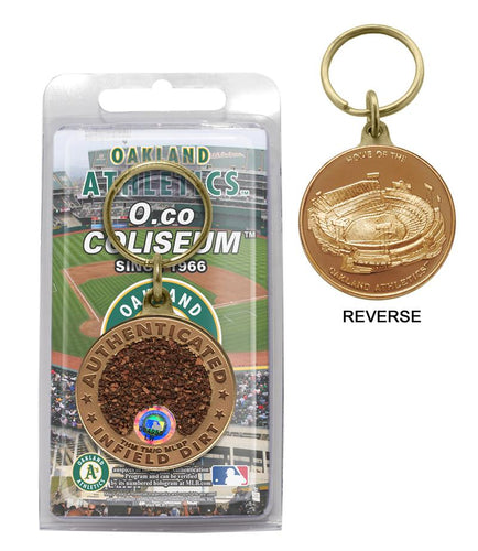 oakland athletics, oakland a's game used, keychain