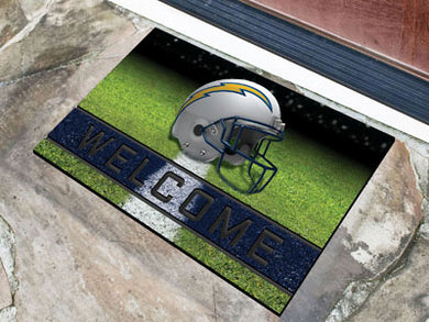 Los Angeles Chargers Crumb Rubber Door Mat - 18