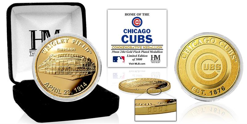 Chicago Cubs Team Commemorative Gold Mint Coin