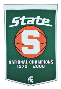 "Michigan State Spartans Dynasty Wool Banner - 24""x36"""
