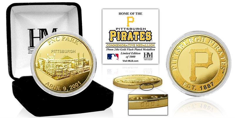 Pittsburgh Pirates Stadium Commemorative Gold Mint Coin
