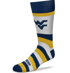 West Virginia Mountaineers Pro Stripe Crew Socks