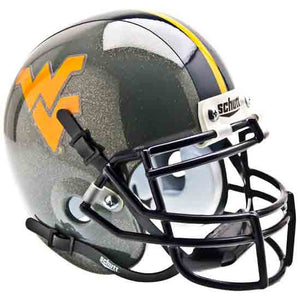 west virginia mountaineers gray mini helmet