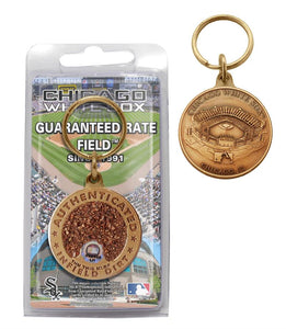 chicago white sox infield dirt key chain
