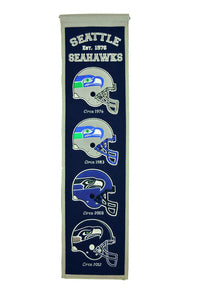 "Seattle Seahawks Heritage Banner - 8""x32"""