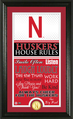 Nebraska Cornhuskers House Rules Supreme Bronze Coin Photo Mint
