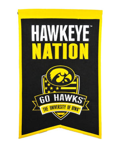 "Iowa Hawkeyes Nation Banner - 14""x22"""