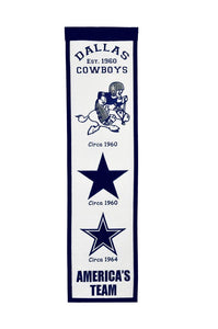 "Dallas Cowboys Fan Favorite Heritage Banner - 8""x32"""