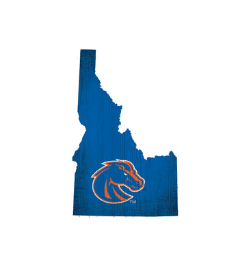 Boise State Broncos State Wood Sign