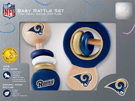 Los Angeles Rams Baby Rattles Set, NFL Baby Rattles