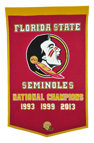 Florida State Seminols Dynasty Wool Banner - 24