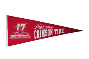 NCAA fan gear Alabama Crimson Tide 2017 champions pennant from Sports Fanz