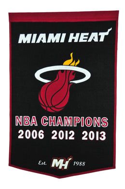 Miami Heat Dynasty Wool Banner - 24