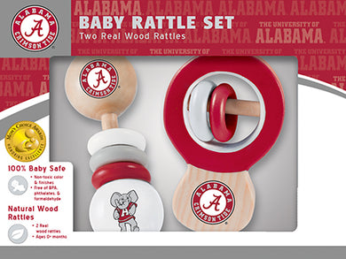 alabama crimson tide football baby rattle