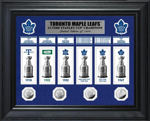 Toronto Maple Leafs 13-Time Stanley Cup Champions Deluxe Gold Coin & Banner Collection