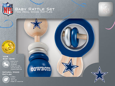 Dallas Cowboys Baby Rattles Set, Dallas Cowboys Baby Rattles
