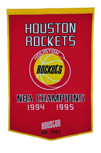 Houston Rockets Dynasty Wool Banner - 24