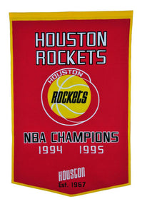 "Houston Rockets Dynasty Wool Banner - 24""x36"""