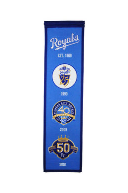 Kansas City Royals 50th Anniversay Heritage Banner - 8