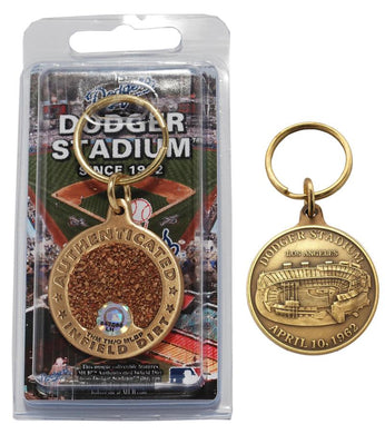 dodgers infield dirt key chain