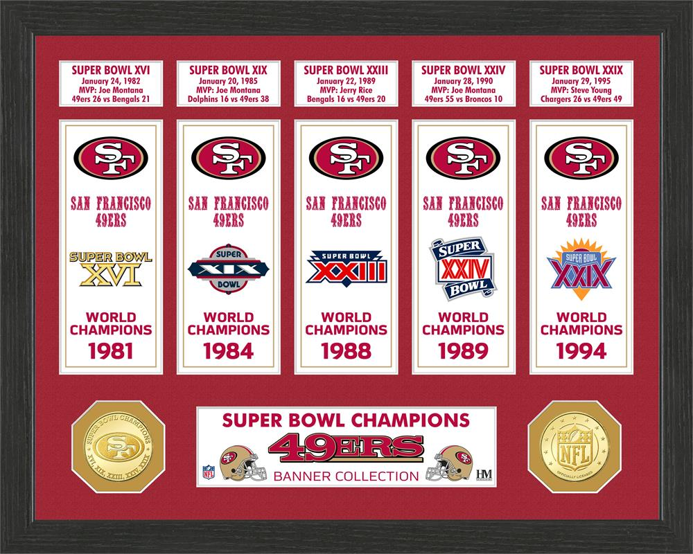 San Francisco 49ers Super Bowl Banner Collection Photo Mint