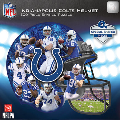 Indianapolis Colts Football Helmet Shaped Puzzle
