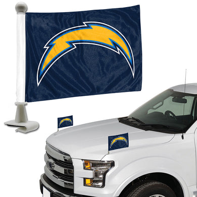 la chargers car flag, los angeles chargers car flag