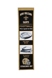 "New Orleans Saints Stadium Evolution Heritage Banner - 8""x32"""