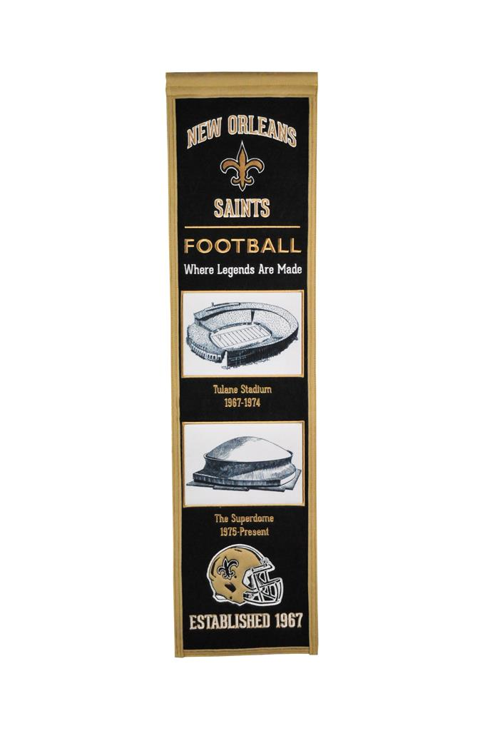 New Orleans Saints Stadium Evolution Heritage Banner - 8