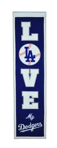 "Los Angeles Dodgers Love Heritage Banner - 8""x32"""